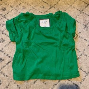 Abercrombie and Fitch crop top green shirt small